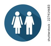 male and female wc icon... | Shutterstock .eps vector #227414683
