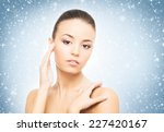 spa portrait of young and... | Shutterstock . vector #227420167
