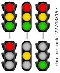 3 different traffic light set.... | Shutterstock .eps vector #227438197