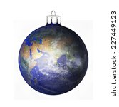 perfect christmas ball on white ... | Shutterstock . vector #227449123