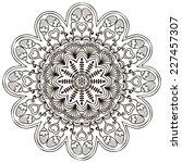 mandala. round ornament pattern.... | Shutterstock . vector #227457307