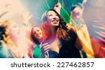 group of party people   men and ... | Shutterstock . vector #227462857