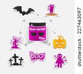 halloween sticker concept   Shutterstock .eps vector #227463097