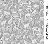 seamless pattern of leaves in... | Shutterstock .eps vector #227466403