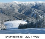 ski trail high in the mountains. | Shutterstock . vector #22747909