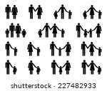 people family pictogram. set of ... | Shutterstock .eps vector #227482933