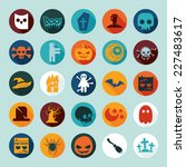 set of halloween icons   Shutterstock .eps vector #227483617