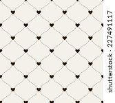 seamless pattern with hearts.... | Shutterstock .eps vector #227491117