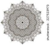mandala. round ornament pattern....   Shutterstock . vector #227523973