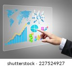 businessman with financial... | Shutterstock . vector #227524927
