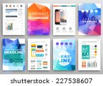 set of flyer  brochure design... | Shutterstock .eps vector #227538607