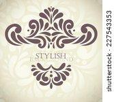 invitation on golden background ...   Shutterstock .eps vector #227543353