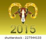 geometric pattern goat. vector... | Shutterstock .eps vector #227544133