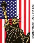 vector statue of liberty and... | Shutterstock .eps vector #227545123