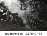 steam locomotive rolling by... | Shutterstock . vector #227547493