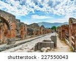 Street In Pompeii  Italy....