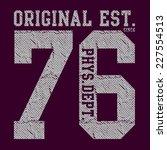 sport college typography  t... | Shutterstock .eps vector #227554513