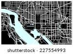 washington dc black and white... | Shutterstock .eps vector #227554993