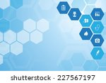 abstract medical  blue... | Shutterstock .eps vector #227567197
