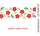 japanese style new year card | Shutterstock .eps vector #227568727