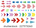 set of arrows on a white... | Shutterstock .eps vector #227573263