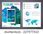 flyer or brochure business... | Shutterstock .eps vector #227577313