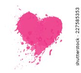heart watercolor painted  ... | Shutterstock .eps vector #227585353