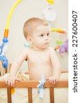 baby boy waving hand and... | Shutterstock . vector #227600407