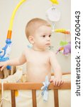 baby boy waving hand and... | Shutterstock . vector #227600443