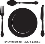 illustration of fork spoon...