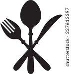 vector illustration of cutlery | Shutterstock .eps vector #227613397