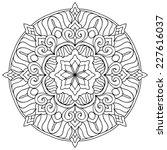 mandala. round ornament pattern....   Shutterstock . vector #227616037