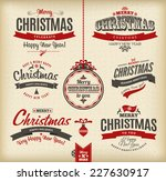 christmas and happy new year... | Shutterstock .eps vector #227630917