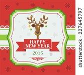 vintage christmas card.... | Shutterstock .eps vector #227645797