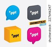file presentation icon.... | Shutterstock .eps vector #227646247