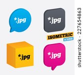 file jpg sign icon. download... | Shutterstock .eps vector #227654863