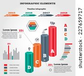 infographics elements. 3d... | Shutterstock .eps vector #227659717