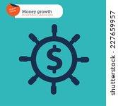 rudder money sign. vector... | Shutterstock .eps vector #227659957