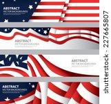 Abstract American Flag  Usa...