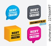 best boyfriend ever sign icon.... | Shutterstock .eps vector #227666497