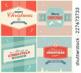 vintage christmas elements... | Shutterstock .eps vector #227673733