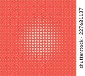 halftone pattern of stars | Shutterstock .eps vector #227681137