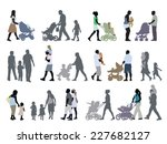 a set of parents and children... | Shutterstock .eps vector #227682127