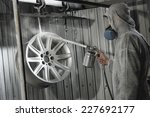 master in protective suit paint ... | Shutterstock . vector #227692177