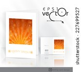 greeting card design  template. ... | Shutterstock .eps vector #227699527