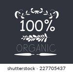 organic vintage frames and... | Shutterstock .eps vector #227705437