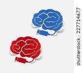realistic design element  brain ... | Shutterstock . vector #227714677