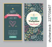 two cards for valentine's day... | Shutterstock .eps vector #227733607