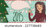 happy new year hand drawn... | Shutterstock .eps vector #227738683