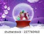 new year gift box with bubbles | Shutterstock . vector #227760463